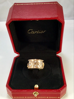 Cartier Walking Panthere 18KT White & Yellow Gold Ring Size 5