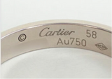 Cartier Mini /Wedding Love Ring 18KT White Gold #58/ US 8