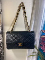 Sale! CHANEL Black Double Flap Lambskin Leather 25 Shoulder Bag
