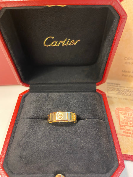 Cartier Love Ring 18KT Yellow Gold Screw Motif #54/7