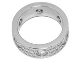 Cartier Full Diamond Paved 18KT White Gold Love Ring #50/ US 5