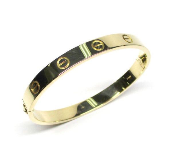 Cartier Yellow Gold Love Bracelet Sz #16