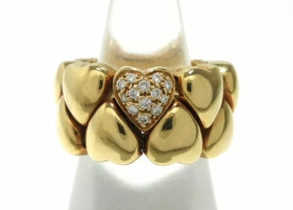 Cartier Puffy Heart Diamond 18KT Gold Ring
