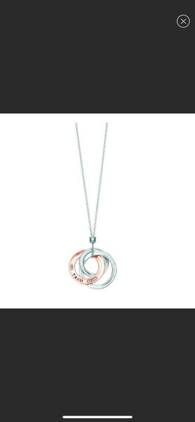 Tiffany & Co. 1837 Interlocking Circles Rubedo Silver Necklace