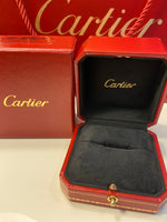 Cartier Mini /Wedding 1P Diamond 18KT Gold Ring #52 / 6
