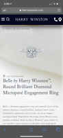 Harry Winston Belle Collection 2.21 tcw Diamond Engagement / Wedding Ring