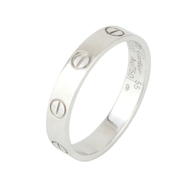 Cartier Mini/ Wedding Love Ring 18KT White Gold #55/ 7