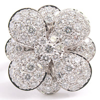 Van Cleef & Arpels VCA Diamond Cosmos Flower High-Jewelry 18KT Gold Ring