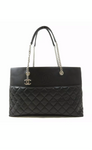 CHANEL Timeless CC Black Lambskin Tote Shoulder Handbag