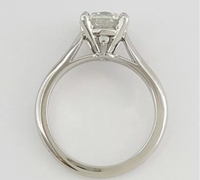 Cartier 1.70 ct Solitaire Diamond H/ VS2 Engagement Wedding Ring Sz 5