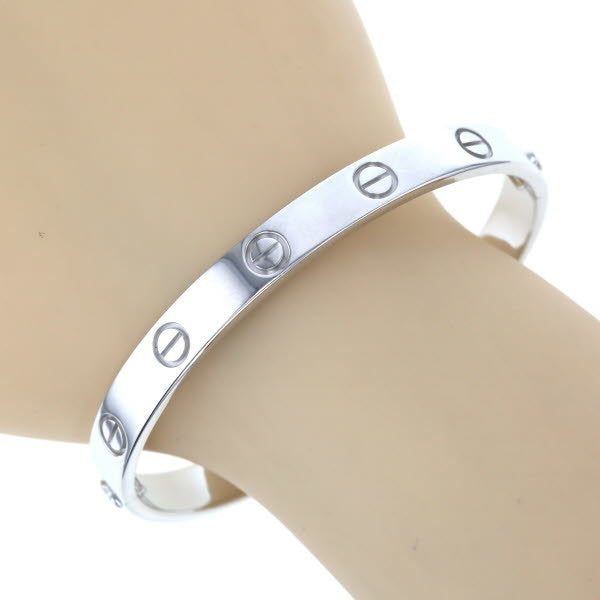 Cartier Love Bracelet 18KT White Gold Screw Motif #19