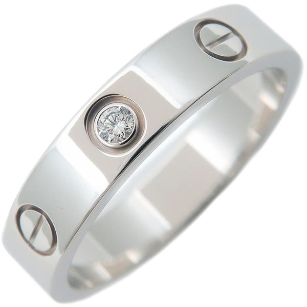 Cartier Mini Love Ring 1P Diamond 18KT White Gold