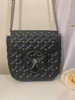 Bvlgari Diva's Dream Black Quilted w/ Studs Crossbody Handbag