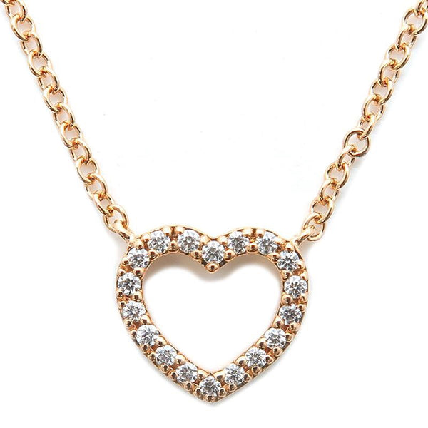 Authenticated Tiffany & Co. Metro Gild & Diamond Heart Necklace