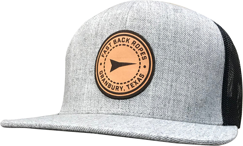 Cap #03RDF - Heather / Black / Round Leather Patch