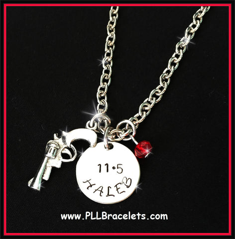 Pretty Little Liars Inspired Haleb Silver and Crystal Ship Necklace