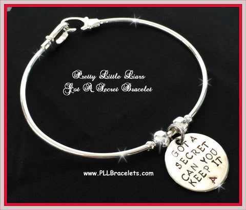 Pretty Little Liars Inspired Got A Secret Can You Keep It A Bangle Bracelet