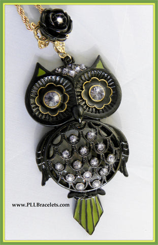 Pretty Little Liars Owl Necklace with Flash Drive PLL Large