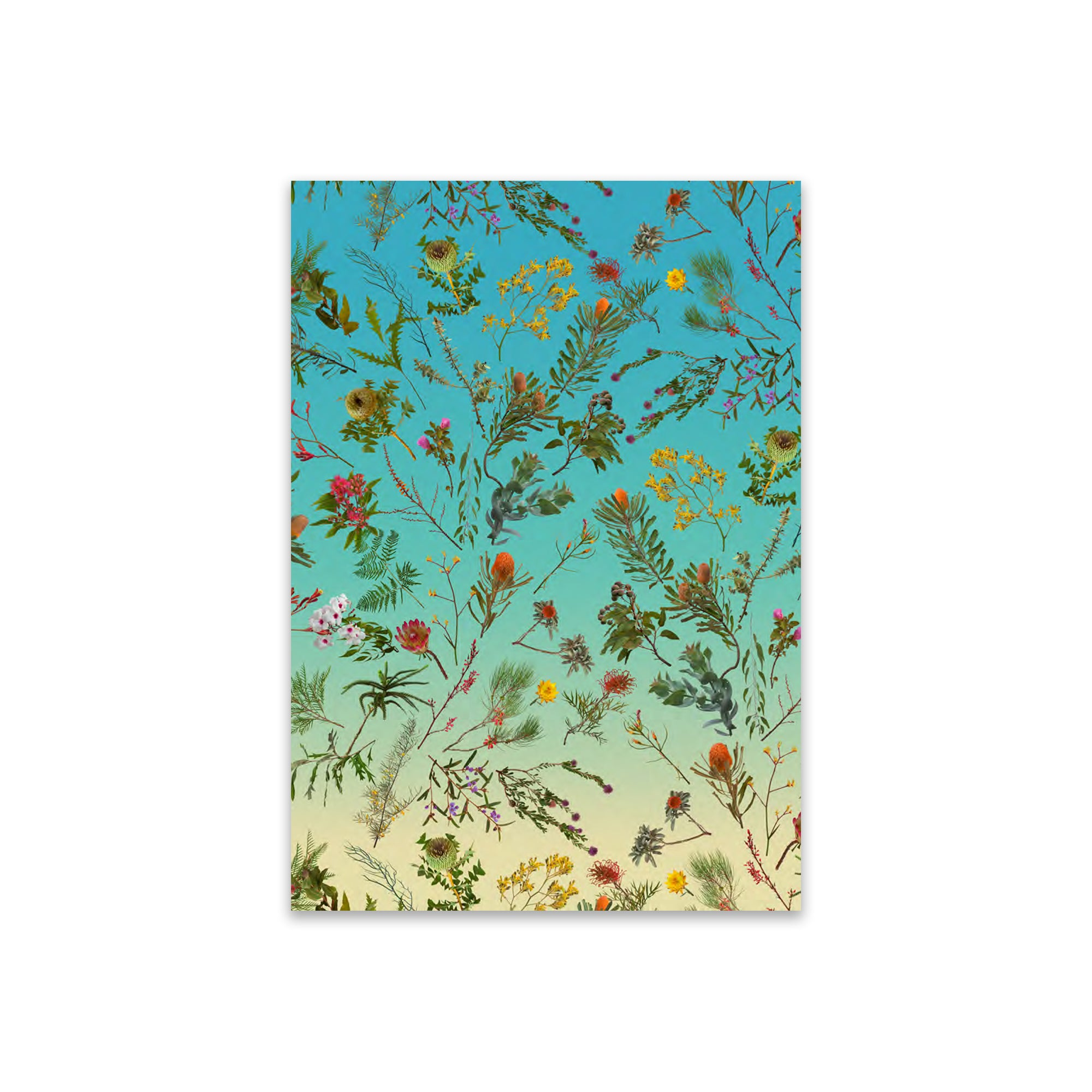 Greeting Card Fallen Fruit Native Plants Blue