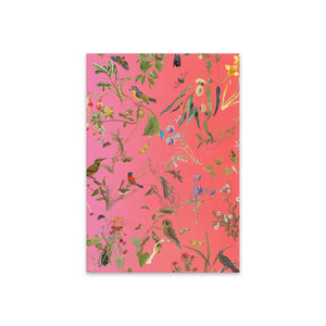 Greeting Card Fallen Fruit Natural History pink