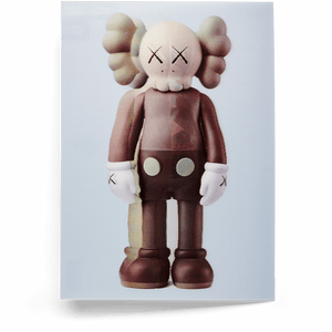 KAWS Lenticular Postcard COMPANION Brown