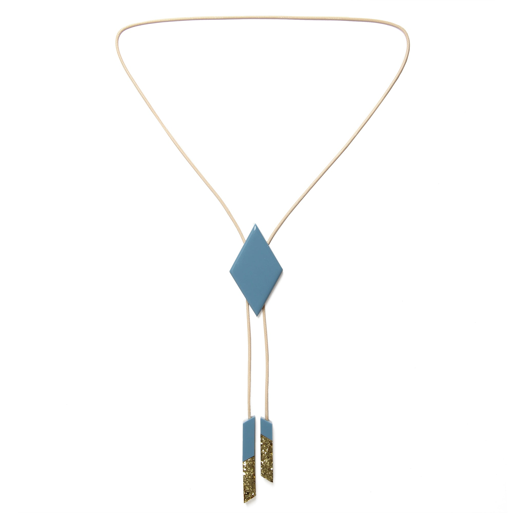 Bolo Tie Necklace Danielle Brustman X Pirdy Blue Gold