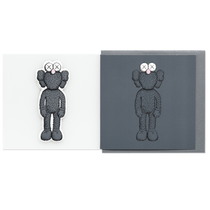 KAWS Greeting Card with Puffy Sticker BFF Dark Grey