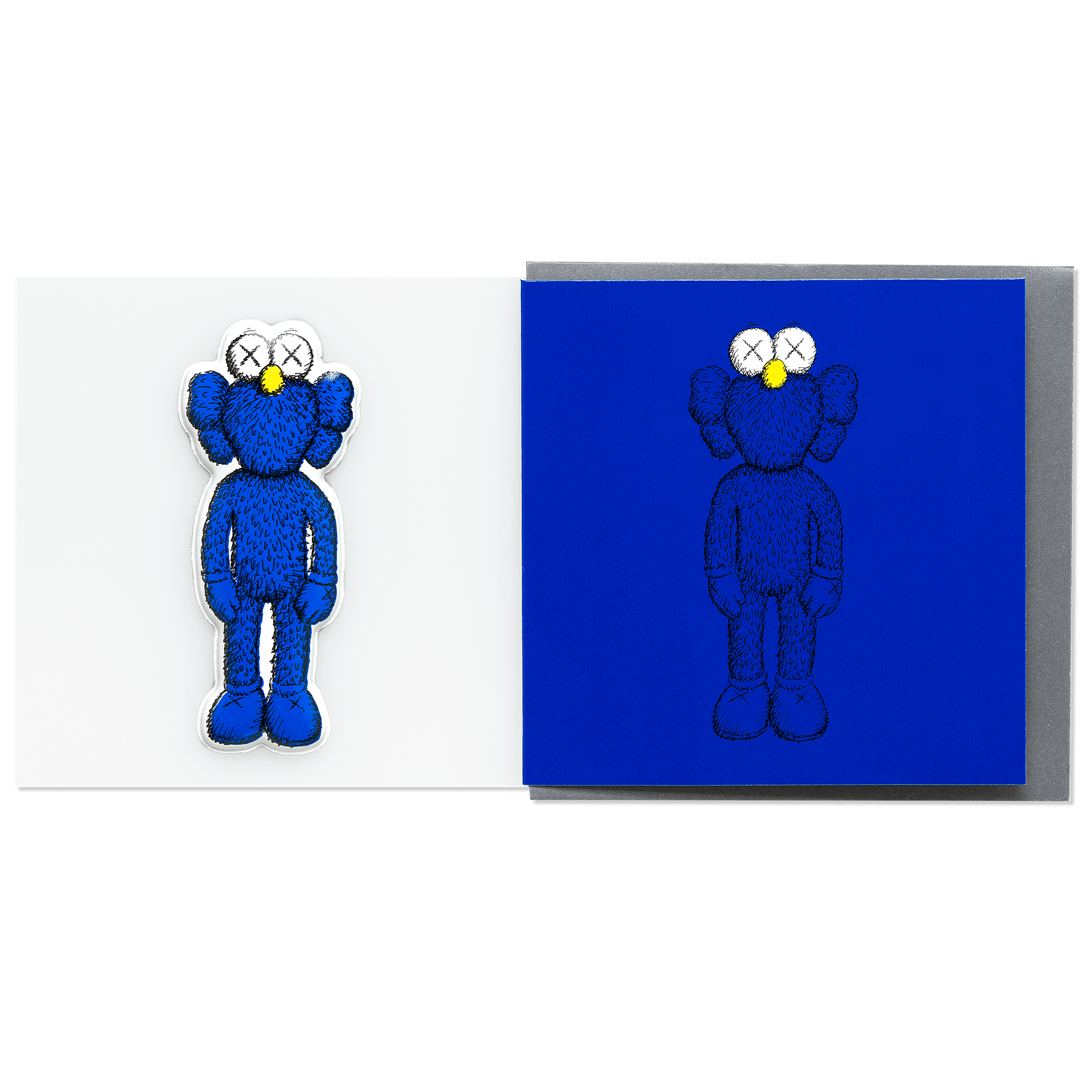 KAWS Greeting Card with Puffy Sticker BFF Blue