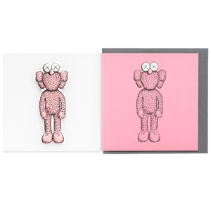 KAWS Greeting Card with Puffy Sticker BFF Pink