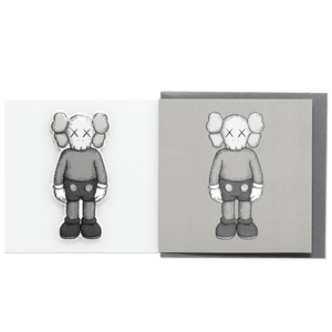KAWS Greeting Card with Puffy Sticker COMPANION Grey