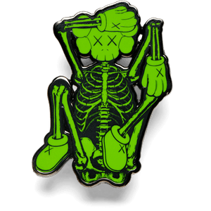 KAWS Pin SKELETON Green