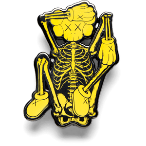KAWS Pin SKELETON Yellow
