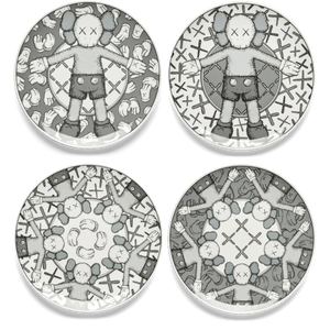 KAWS Plate Set of 4 HOLIDAY Grey