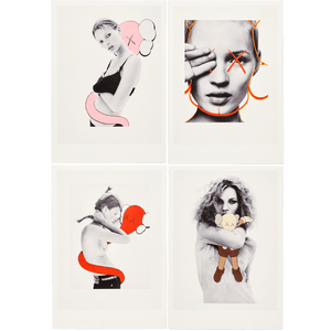 Postcard Set of 4 David Sims