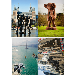 KAWS Postcard Set of 4 Monumental Sculptures