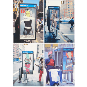 Postcard Set of 4 Phone Shelters