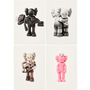 KAWS Postcard Set of 4 Vinyl Toys