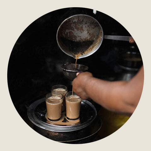 Straining Chai Tea
