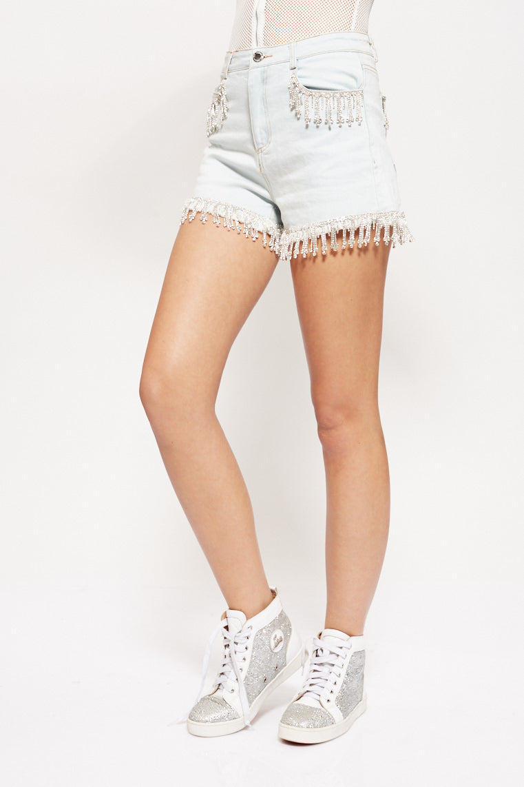DIAMONDS SHORT JEANS