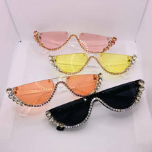 "Load image into Gallery viewer, ""Sparkle"" Women's Half Frame Fashion Sunglasses"