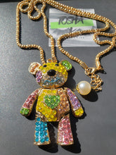 Load image into Gallery viewer, Crystal Teddy Necklace