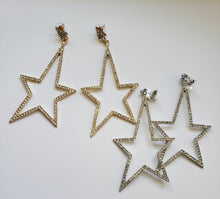 Load image into Gallery viewer, Star Dangle Earrings