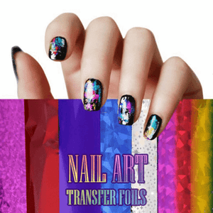 Nail Art Transfer Foils (Set of 12 UNIQUE DESIGNS)