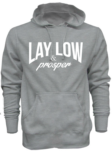 Grey Hoodie - Lay Low Apparel