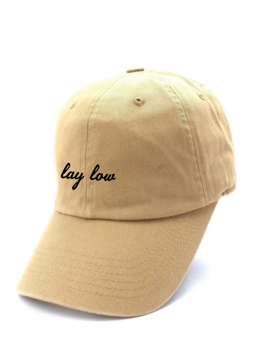 Khaki Dad Hat - Lay Low Apparel