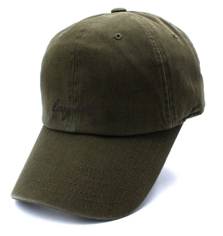 Olive Dad Hat - Lay Low Apparel
