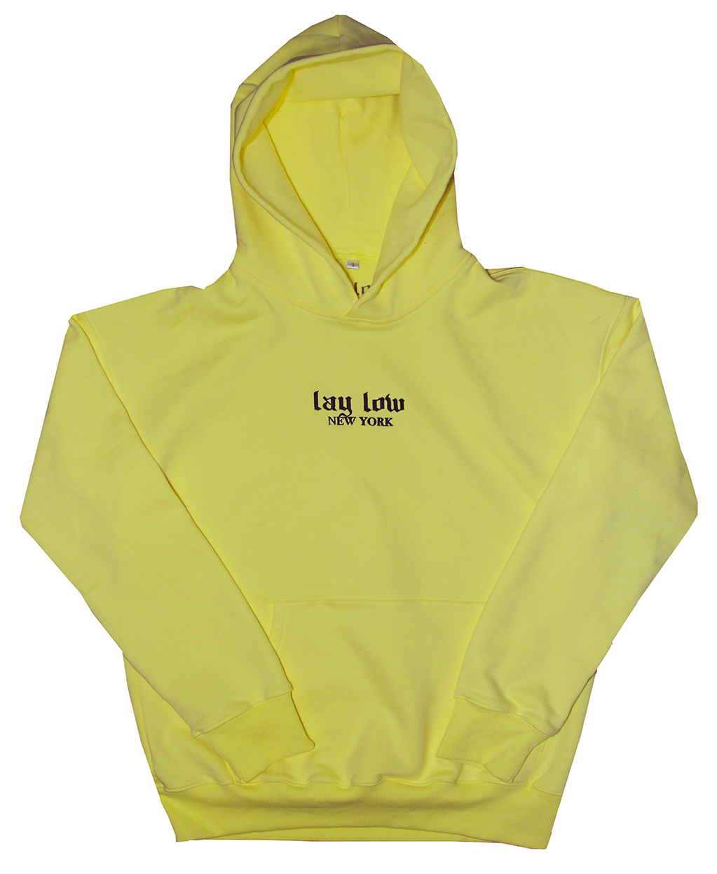 Yellow LLNY Hoodie - Lay Low Apparel