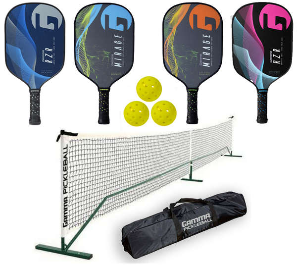 Gamma Bundle Set - (4) Paddles (3) Balls (1) Gamma Net