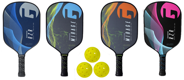 Gamma Bundle Set - (4) Paddles (3) Balls