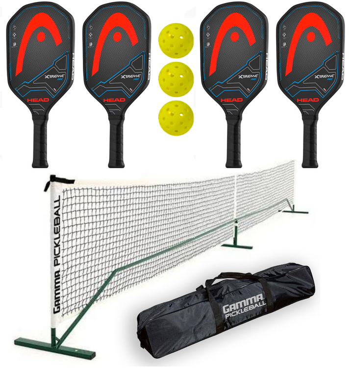 Head Bundle Set - (4) Paddles (3) Balls (1) Gamma Net